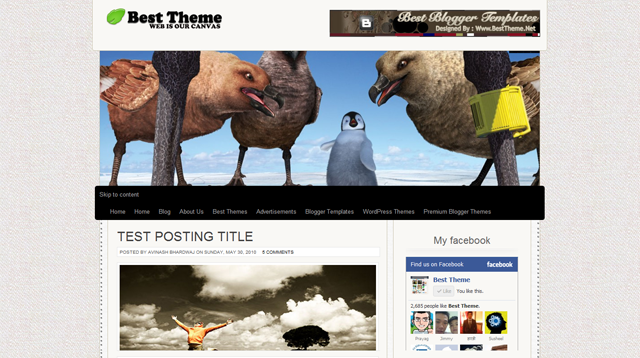 Canvas HTML5 Blogger Template