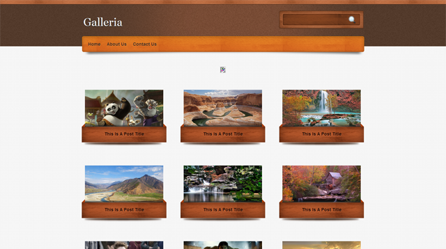 Galleria Blogger Template