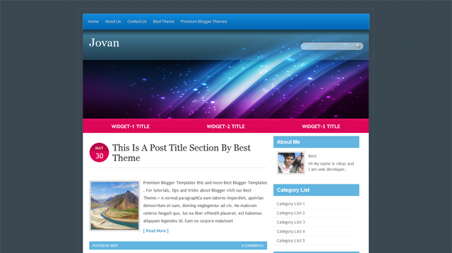 Jovan Blogger Template