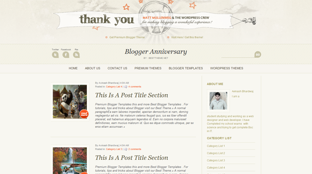 Blogger Anniversary Template