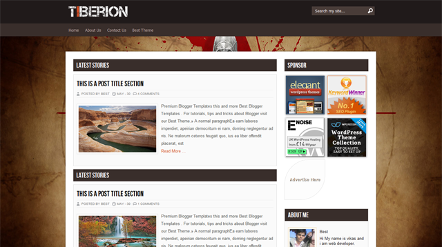 Tiberion Blogger Template
