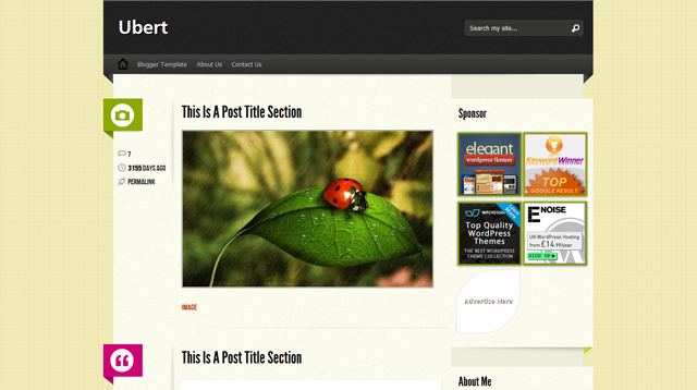 Ubert Blogger Template