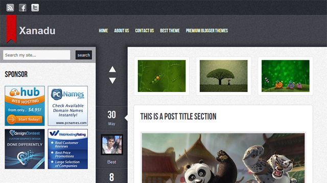 Xanadu Blogger Template