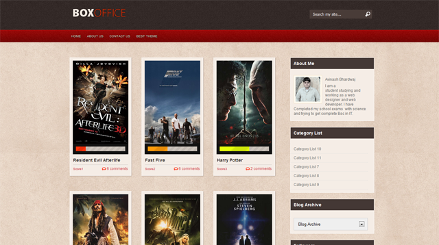 Box Office Blogger Template