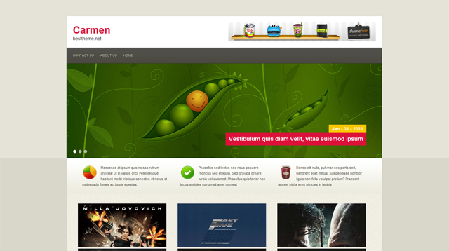 Carmen Blogger Template
