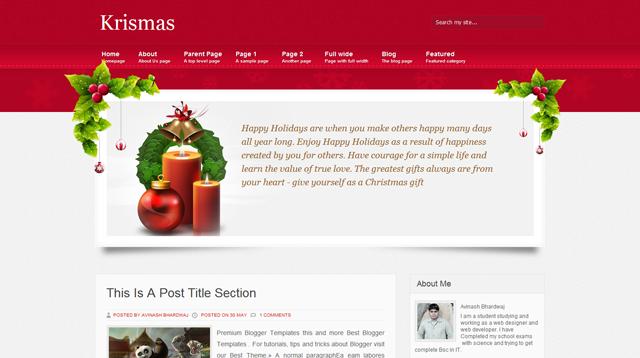 Krismas Blogger Template